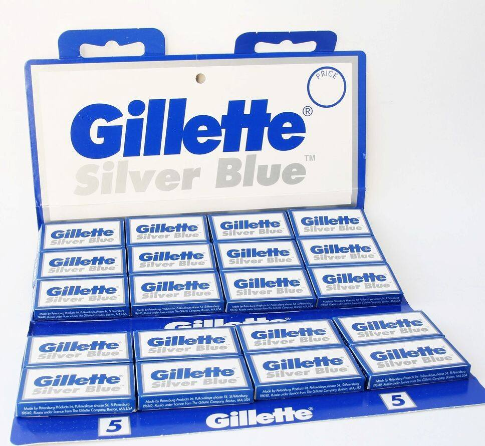 Gillette Silver Blue Double Edge Razor Blades (100 Count) - $14.15 Plus Free Shipping