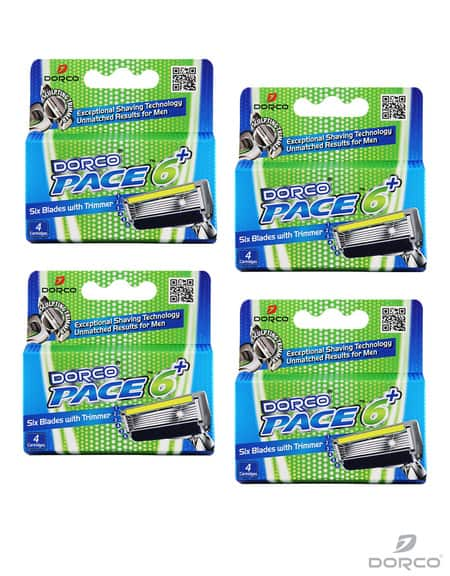 Dorco USA: Pace 6 Plus Cartridges (16 Count) - $17.37 Plus Free Shipping