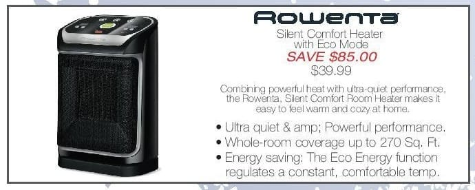 Home & Cook Outlet Black Friday: Rowenta: Silent Comfort Heater w/ Econ Mode - $39.99 for $39.99