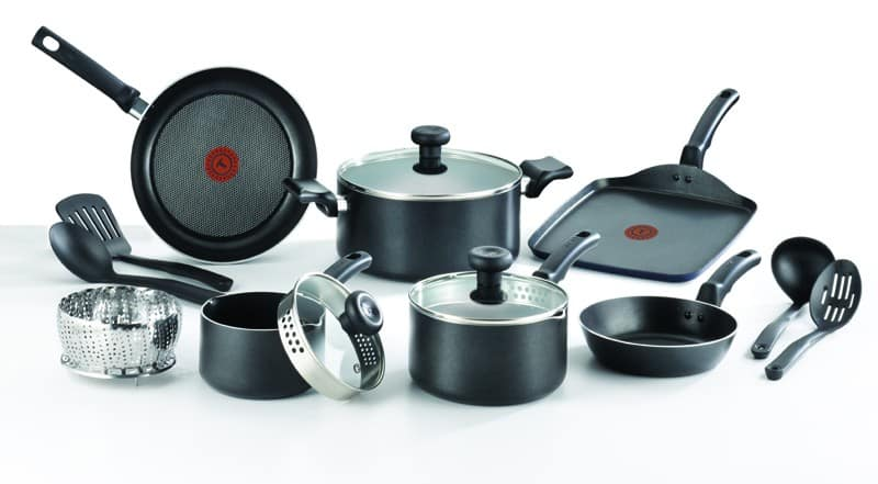 Home & Cook Outlet Black Friday: T-fal: 14-Piece Soft Handles Nonstick Cookware Set - $39.99 for $39.99