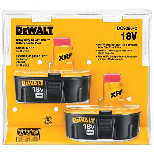 eBay: 2-Pack DeWALT 18-Volt 2.4-HP XRP Ni-Cd Battery (DC9096-2) - $74.99 Plus Free Shipping