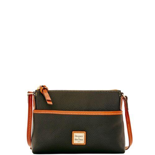 eBay: Dooney & Bourke Pebble Grain Ginger Pouchette Shoulder Bag - $67 Plus Free Shipping
