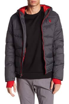 Hautelook: Up To 60% Off SPYDER Men's Outerwear - Quilted Down Zip-Up Hoodie - $79.97 Plus Free Shipping on $100+