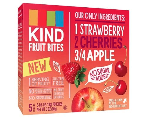 Target: KIND Strawberry Cherries Apple Fruit Bites (3 oz) - $2.50 Plus Free In-Store Pickup