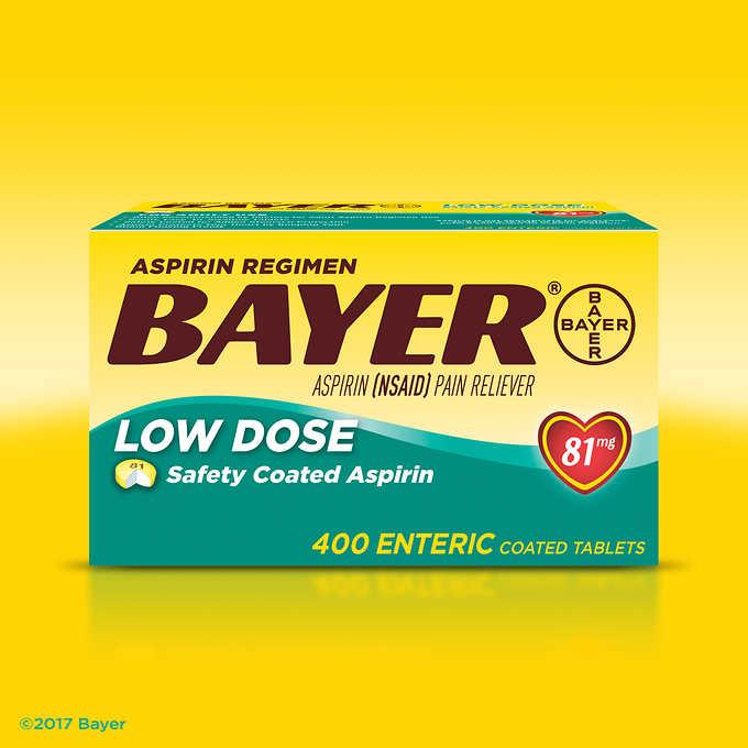 Costco: Aspirin Regimen Bayer 81 mg. Low Dose (400 Tablets) - $10.49 Plus Free Shipping