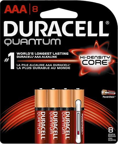 Best Buy: Duracell Quantum AAA Batteries (4-Pack) - $4.99, Duracell AAA Batteries (4-Pack) - $2.99 Plus Free In-Store Pickup