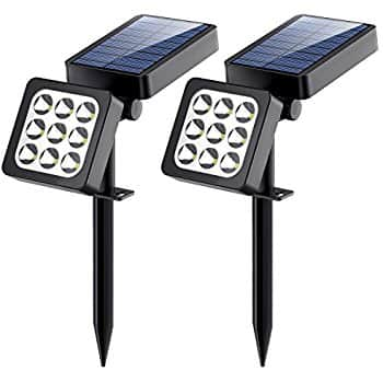 Amazon: 2-Pack of 2-in-1 Waterproof Outdoor 9 LED Solar Spotlights - $13.99 Plus Free Shipping