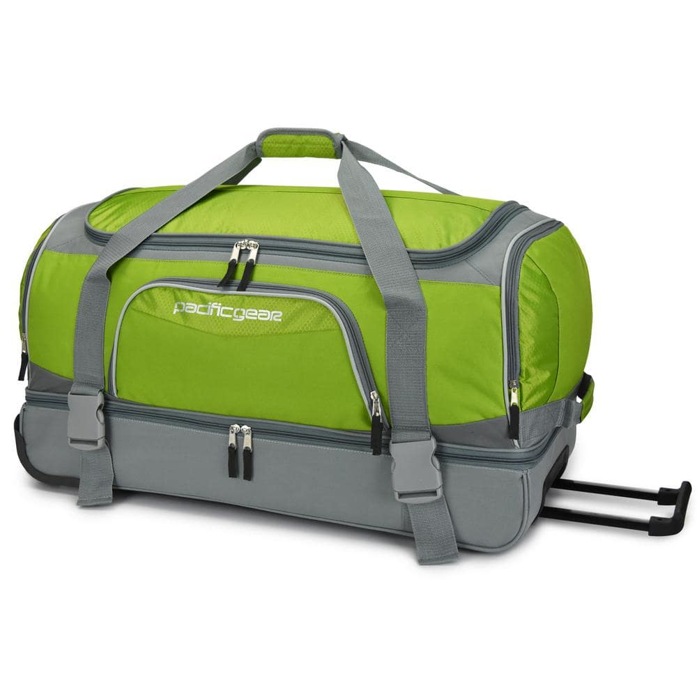 "The Home Depot: Traveler's Choice 30"" Drop-Bottom Green Rolling Duffel - $27.99 Plus Free In-Store Pickup"