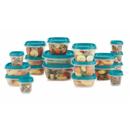 Rubbermaid Food Storage 38 Piece Set with Easy Find Lids, Teal YMMV $3