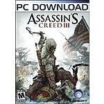 AMAZON: Assassin's Creed III PC Download - $4.99 US -75% OFF