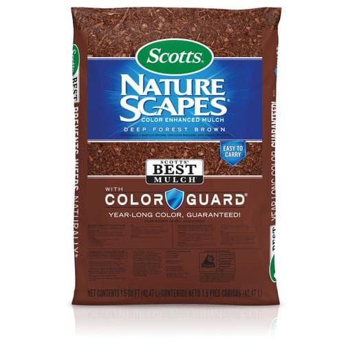 Scotts Nature Scapes Mulch 1.5-cu ft (Brown or Black) $2 a bag