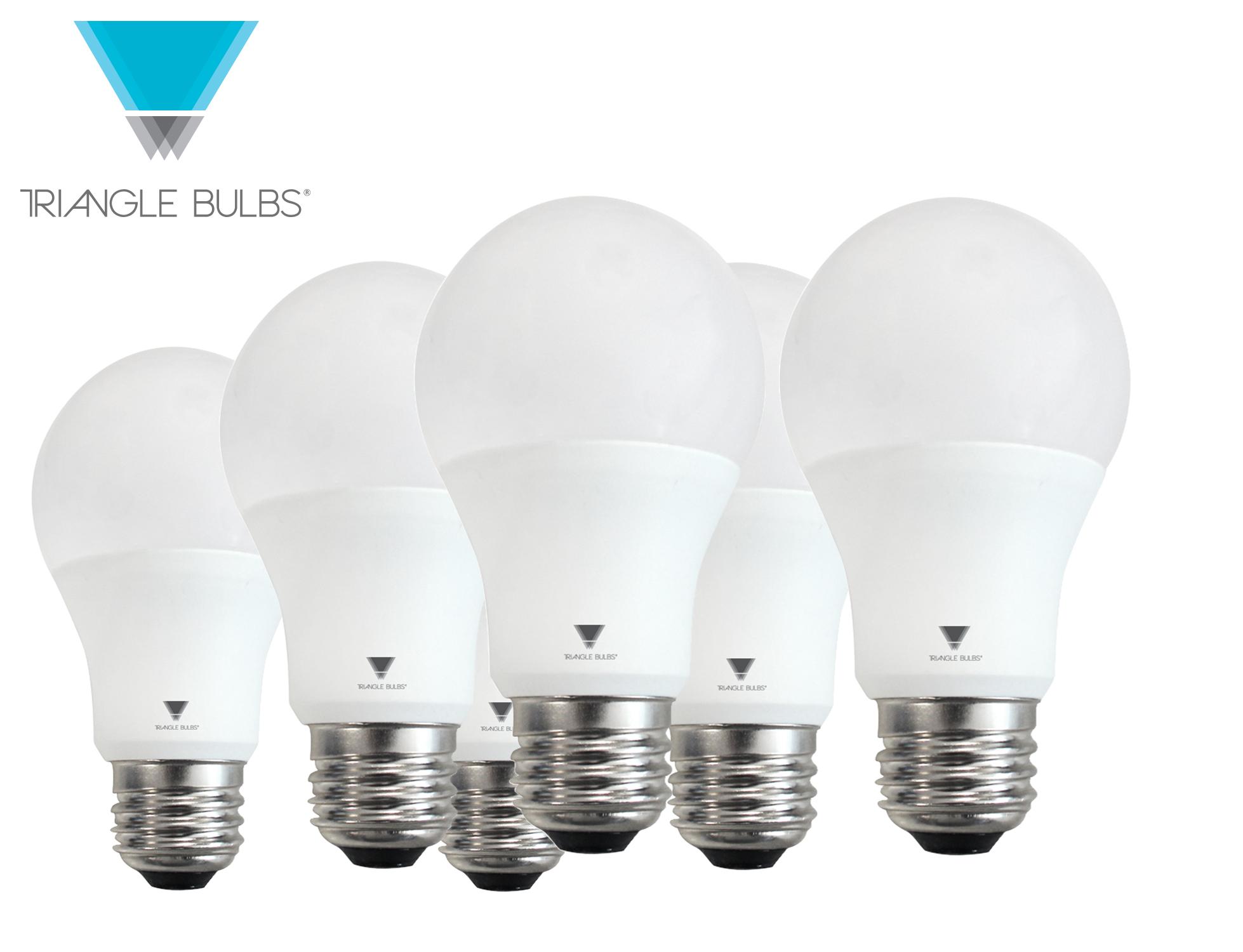 triangle bulbs a19 led 60 watt equivalent daylight 5000k. Black Bedroom Furniture Sets. Home Design Ideas