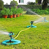 $ 2 off on Water Sprinkler System Impulse Long Range Sprinklers for Garden and Lawn 16.99 AC @ Amazon