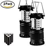 2x LED Camping Lantern Weatherproof Collapsible Survival Emergency Kit $13 AC @Amazon