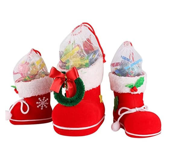 Coxeer 3Pcs Candy Boots for Christmas Tree Decorations(4 options)$9.98 AC @Amazon $10