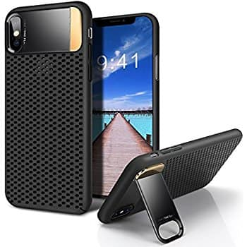 iPhone X Case with Metal Kickstand and Honeycomb Heat Dissipation $6.29 AC @Amazon FS prime