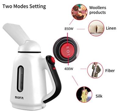 Mini Travel Garment Steamer; Clothes Steamer 120ml | Portable, Handheld, Lightweight Lint Wrinkle Remover $9.99 AC