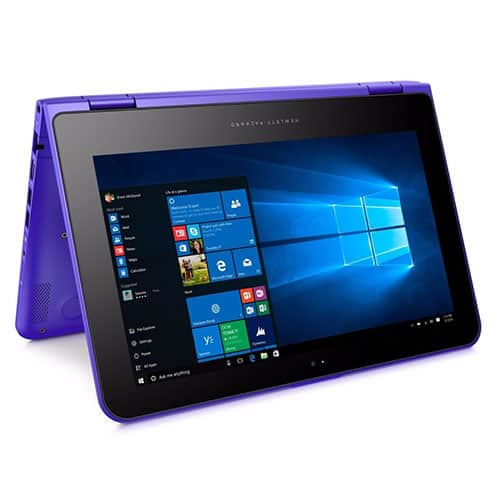 "Open Box HP X360 11.6"" 11-k137clx Touchscreen Intel M3-6Y30 4GB 500GB Win 10 Purple $230 ebay AC"