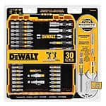 30-Piece Dewalt Max Fit Screwdriving Set $13 at Home Depot