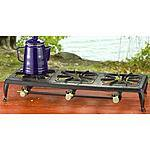Guide Gear Double Burner Cast Iron Stove $35 at Bargain Outfitters