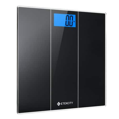 Etekcity Digital Body Weight Bathroom Scale with Body Measuring Tape and Large Easy Read Backlit LCD Display $13.99 @ Amazon