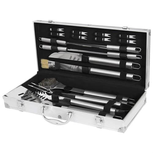 19pc Stainless Steel BBQ Grill Tool Set With Aluminum Storage Case $24.99