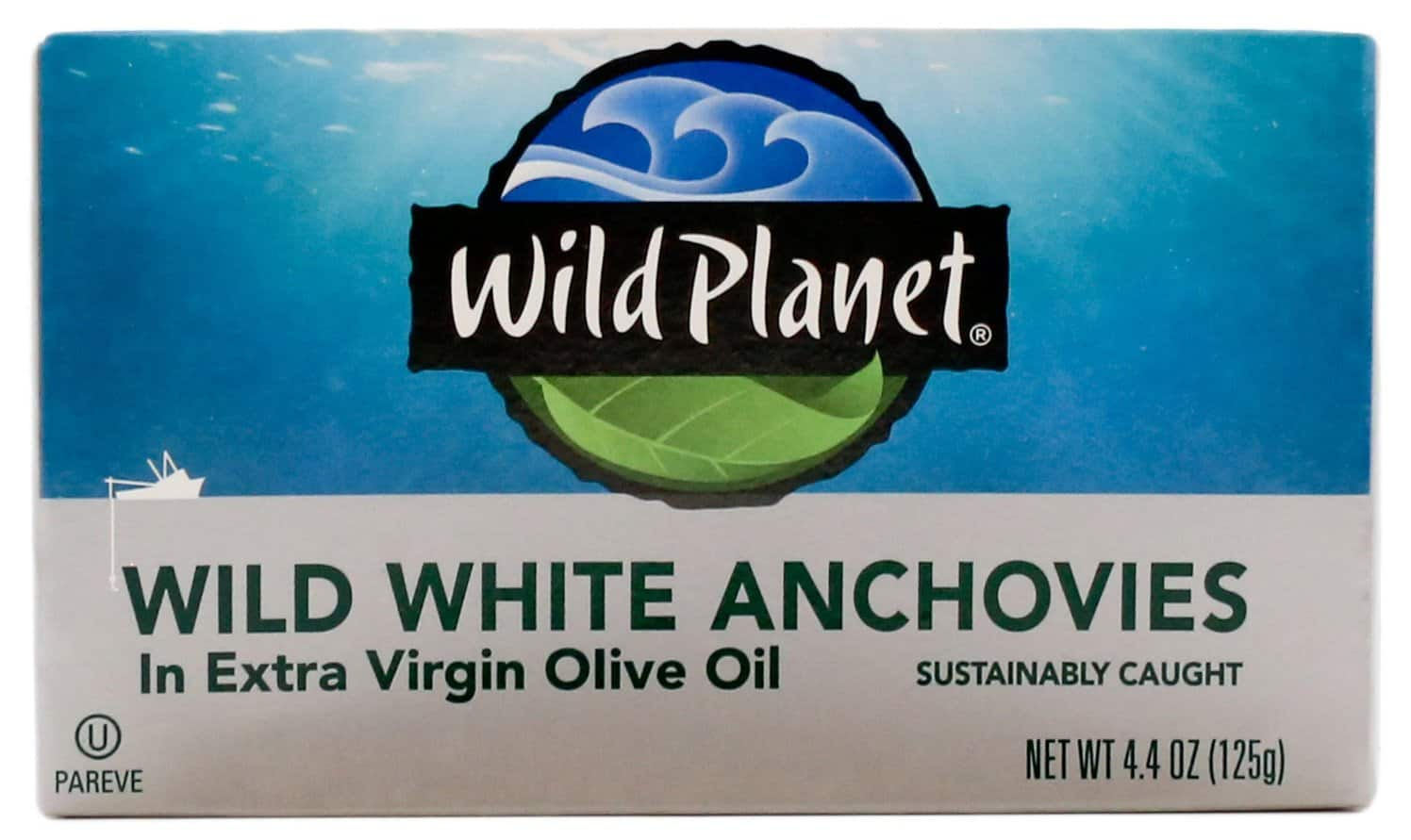 Wild Planet Wild White Anchovies in Extra Virgin Olive Oil (or in Water), 4.4 Ounce (Pack of 12) $21.25