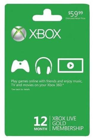 Microsoft Xbox Live Gold 12 Month Membership (US Version) $42.99