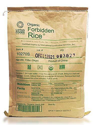 Lotus Foods Gourmet Organic Forbidden Rice, 11 Pound @ 31.61 after 5% ss $31.61