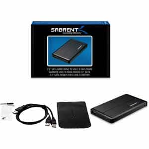 "Sabrent 2.5"" SATA to USB 2.0 Portable Hard Drive Enclosure $6.89 (30% off)"