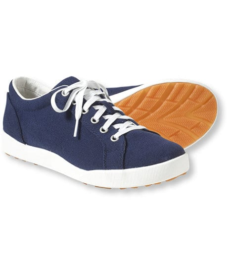LL Bean Men's Canvas Deck Shoes, Lace-Up - $19.99 FS