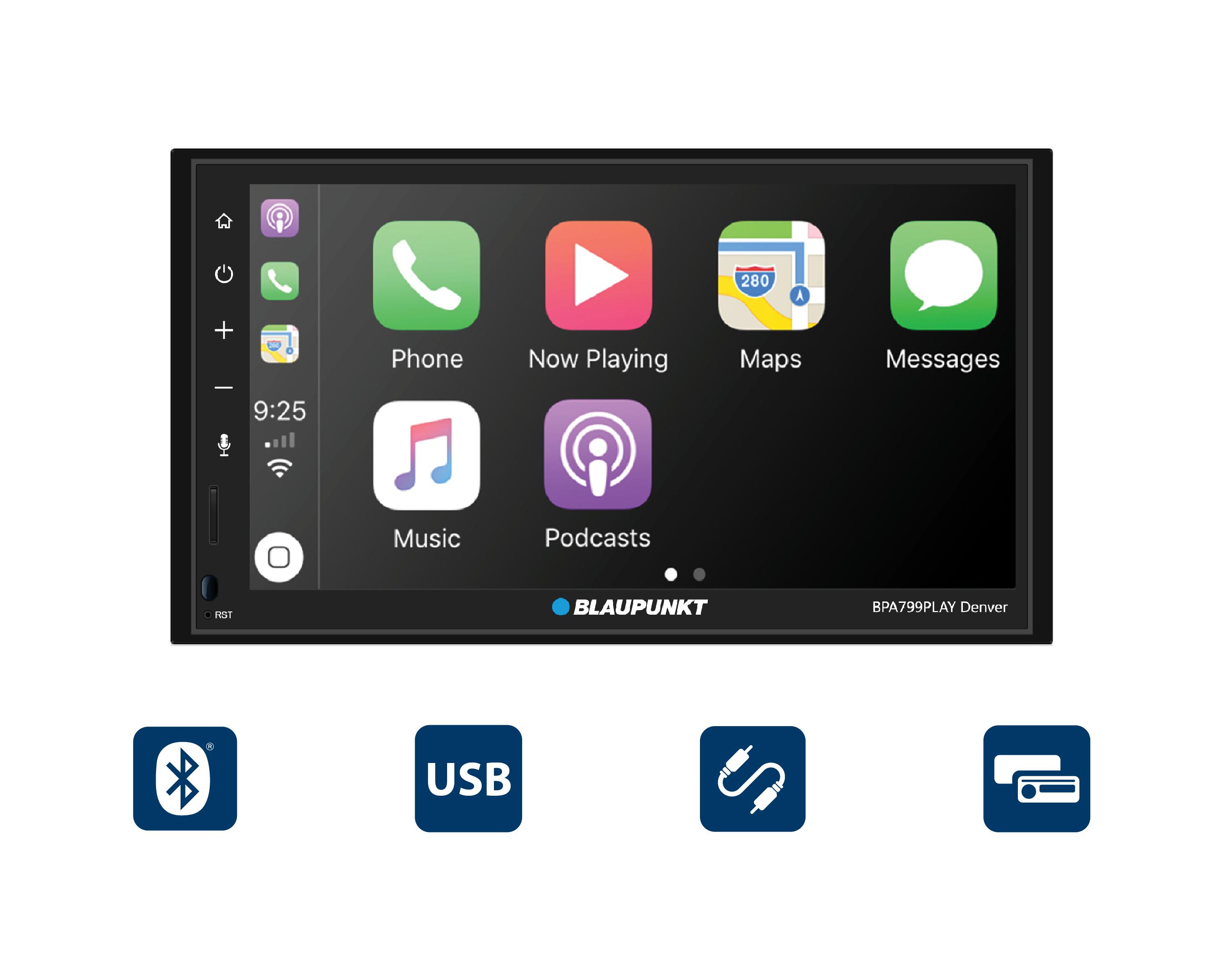 "Blaupunkt Car Receiver 6.8"" Screen Apple CarPlay / Android - Walmart $150 FS $149.99"