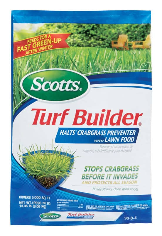 YMMV Scotts Turf Builder Halts Crabgrass Preventer with Lawn Food 5,000 sq ft $5