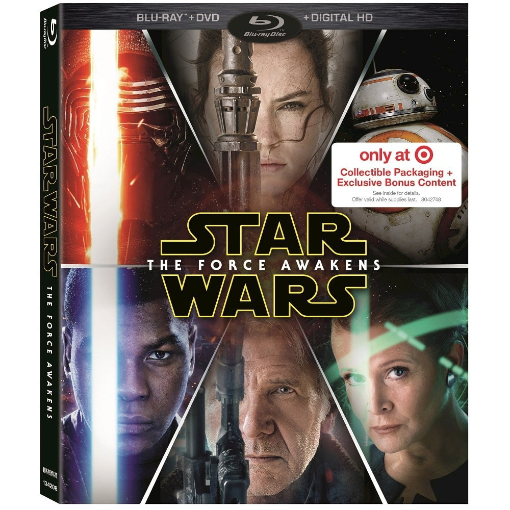 Star Wars: The Force Awakens DVD & Blu-Ray [PRICES UPDATED] - best prices, special features and compilation list of ALL retailer exclusives!