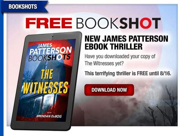 James Patterson Bookshot: The Witnesses with Brendan DuBois - FREE ebook through August 16th