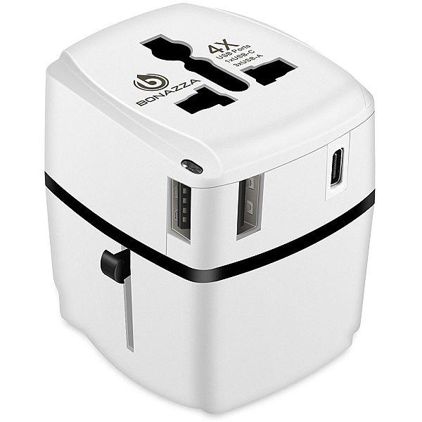 Universal Travel Power Adapter w/4 Fast Charging USB Port (3 USB A +1 USB C) $10.97 AC @Amazon