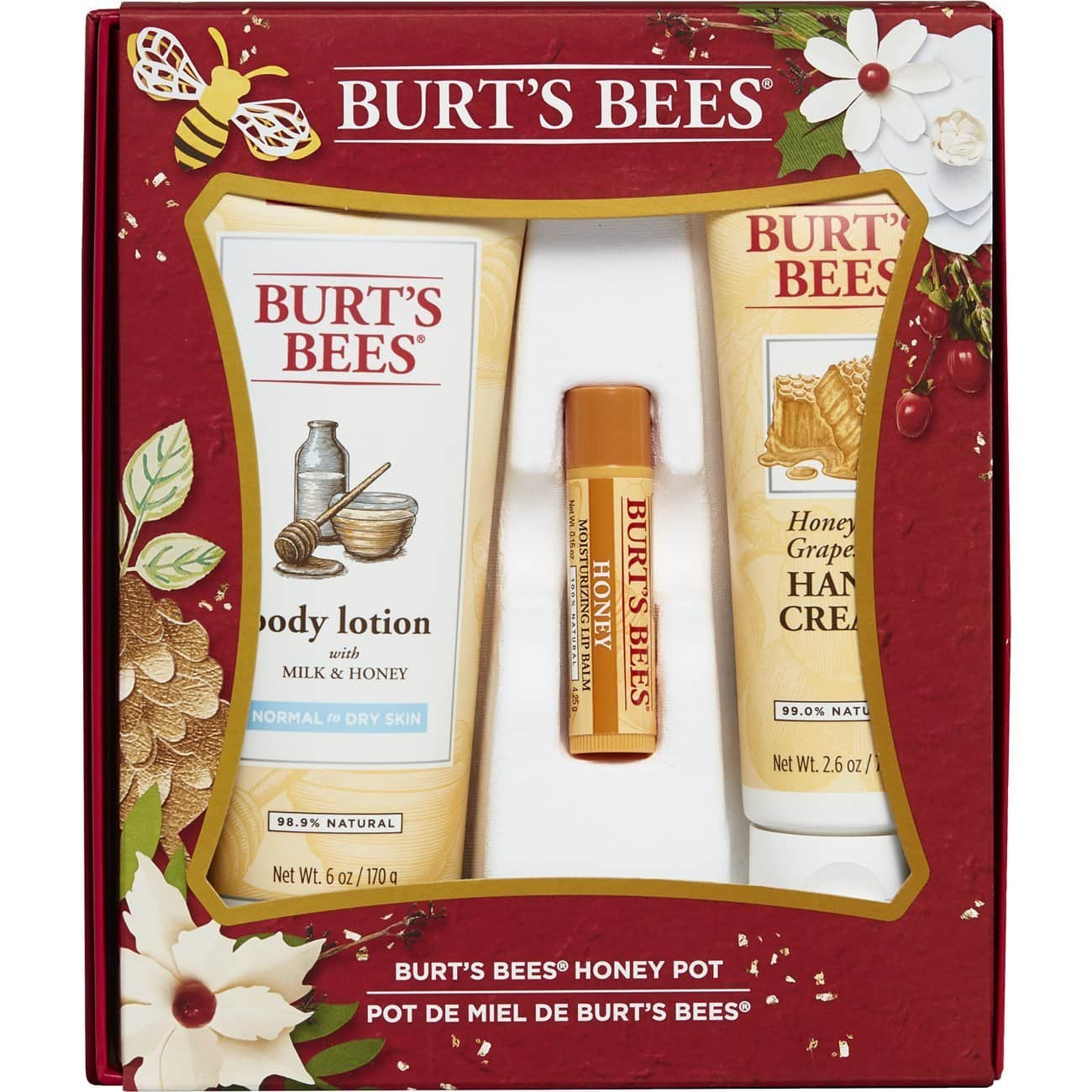 Burt's bees Honey Pot 3 piece gift set $4.48 W/Amazon Fresh