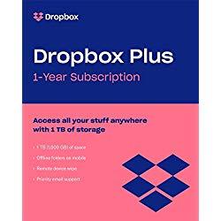 Dropbox Plus (1TB storage) + $20 Amazon gift card for $99 @Amazon