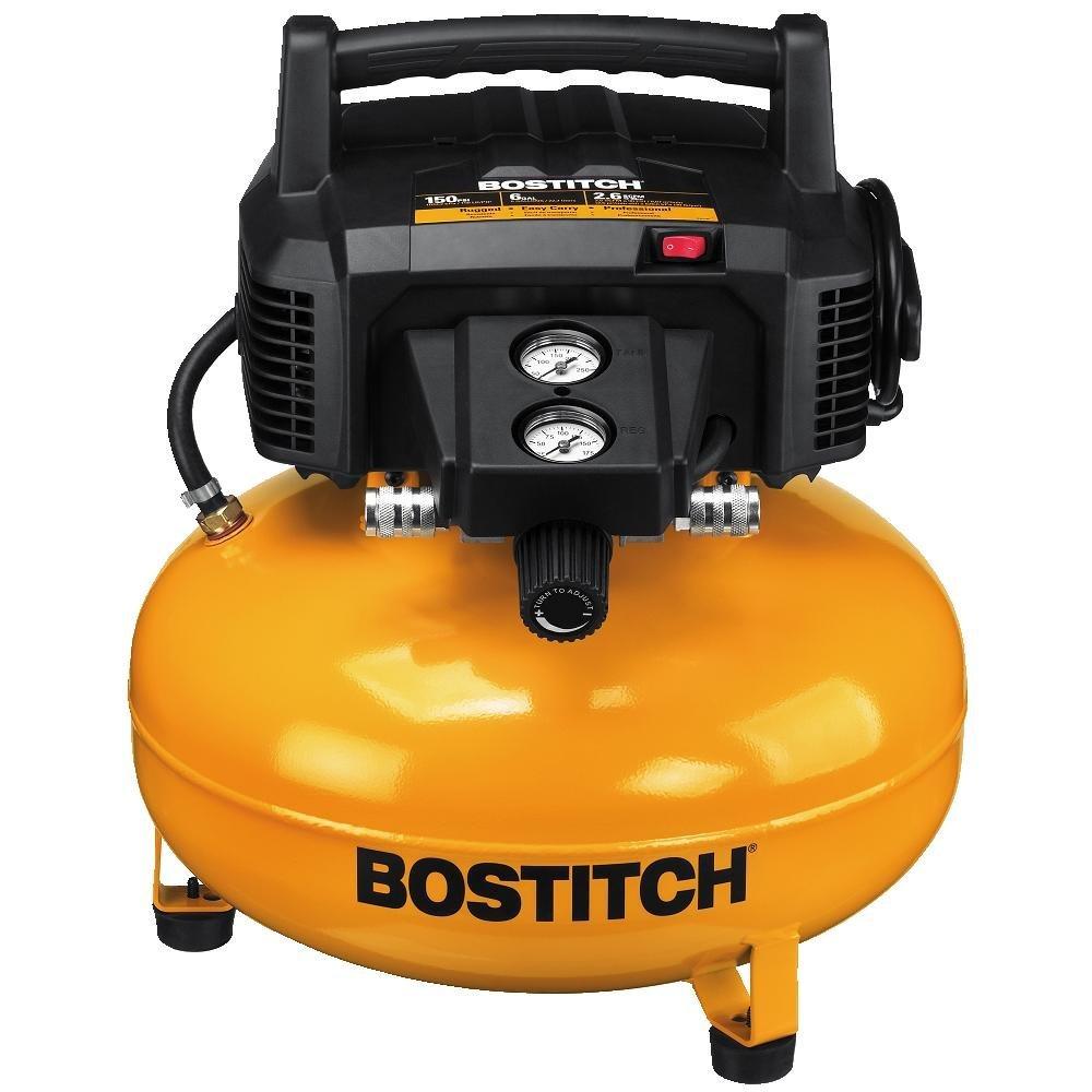 Bostitch 6 Gallon 150 PSI Oil-Free Compressor $79.99