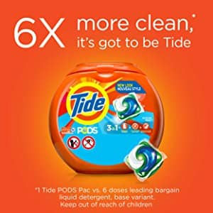 (Only for Prime Members) Tide PODS 3 in 1 HE Turbo Laundry Detergent Pacs, Ocean Mist Scent, 72 Count Tub for $10 + FS