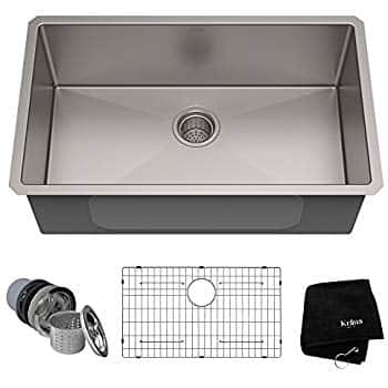 Kraus Standart PRO 32-inch 16 Gauge Undermount Single Bowl Stainless Steel Kitchen Sink, KHU100-32 at Amazon for $225 + taxes + Prime FS