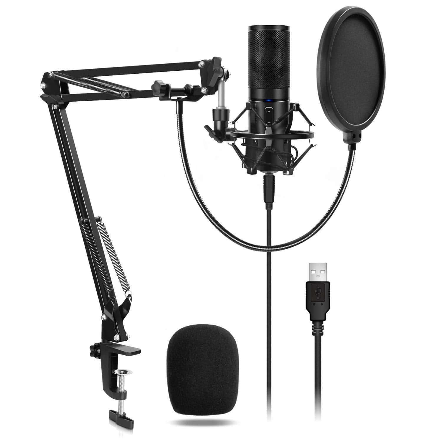 USB Microphone Kit Q9 Condenser Computer Cardioid Mic for Podcast, Game, YouTube Video, Stream, Recording Music, Voice Over $37.49