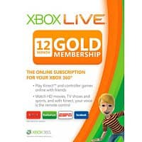 Deal: Xbox Live 12 Month Gold Card $37.35