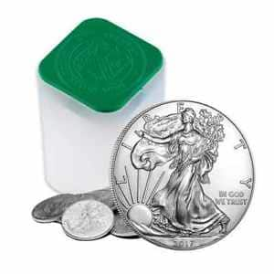 1 oz Silver American Eagle Coins (roll of 20) BIN @ $326.24 w/ FS on eBay.