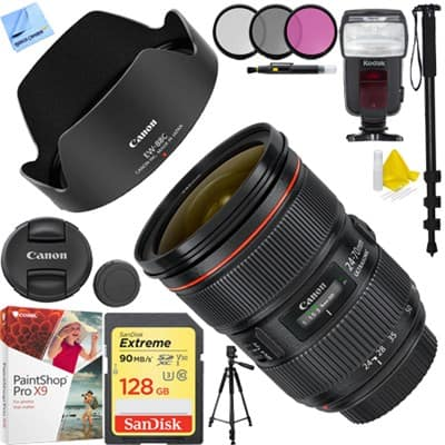 Canon EF 24-70mm f/2.8L II USM Standard Zoom Lens with Sandisk 128GB and more at Buydig - $1,699 $1699