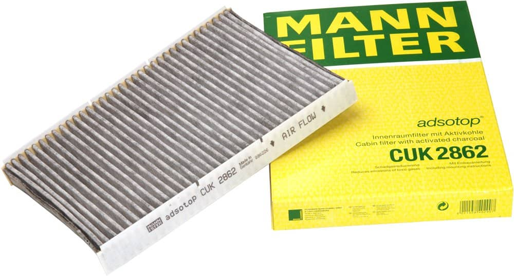 Mann-Filter CUK 2862 Cabin Filter With Activated Charcoal for select Audi/Volkswagen models $7.45