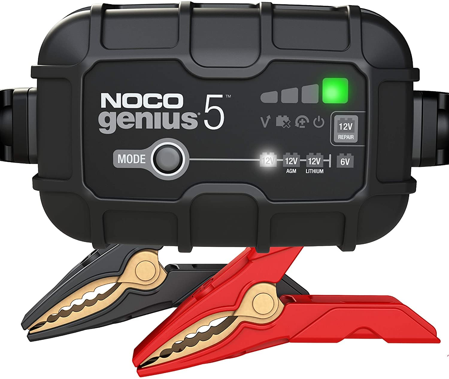 NOCO GENIUS5, 5-Amp Fully-Automatic Smart Charger, 6V And 12V Battery Charger, Battery Maintainer, And Battery Desulfator With Temperature Compensation $60.61
