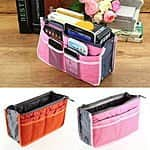 Organizer Women Travel Bag Purse Handbag Insert Large Tidy Makeup Cosmetic HSG $2.41 FS at ebay