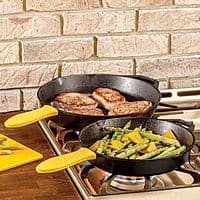Costco Wholesale Deal: Lodge 2-Pack Cast Iron Skillets And 2 Silicone Mitts - Costco instore $36.99
