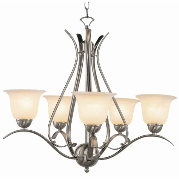 Contemporary Bronze 5-Light Shaded Chandelier (And Many Others) @ Wayfair - $110.99 + FS